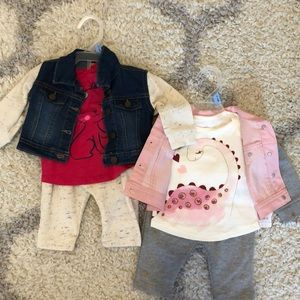 Baby Girl 3-piece Outfits
